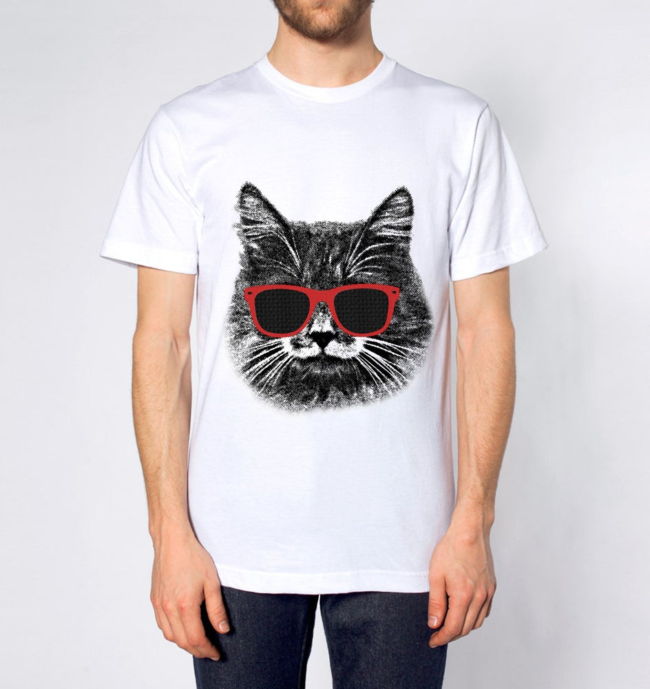 Image of The Hipster Cat! Men's Tee