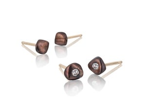 Image of pebble stud earrings
