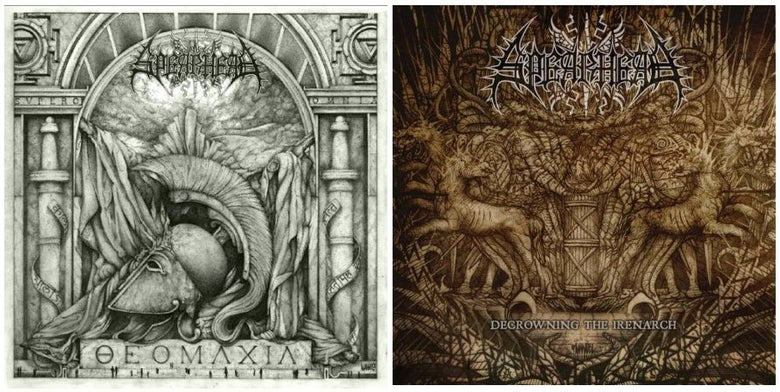 "Image of ""Theomachia"" / ""Decrowning The Irenarch"" CD"
