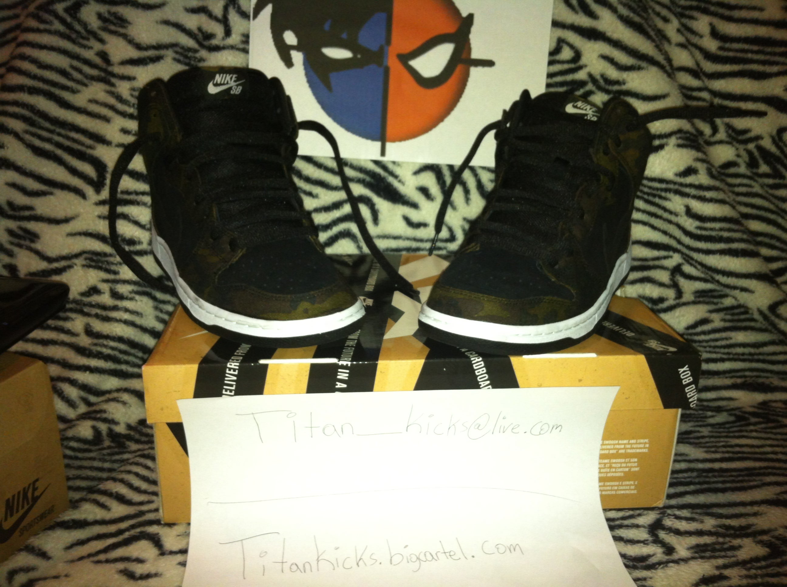 sneakers for cheap b1655 bc064 ... low cost image of nike dunk high pro sb iguana black size 10 a1ef4 8f4fa