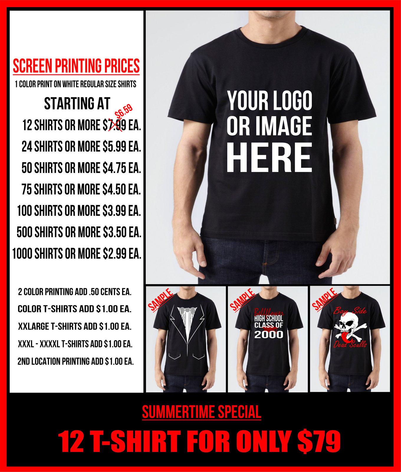 My Shirt Is Custom Llc 12 Custom Screen Printed T Shirts