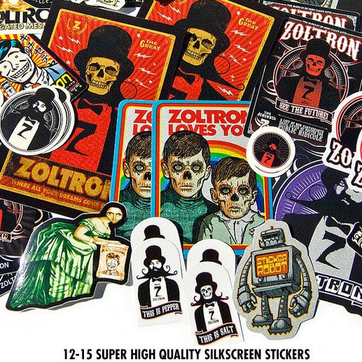Image of zoltron sticker packs