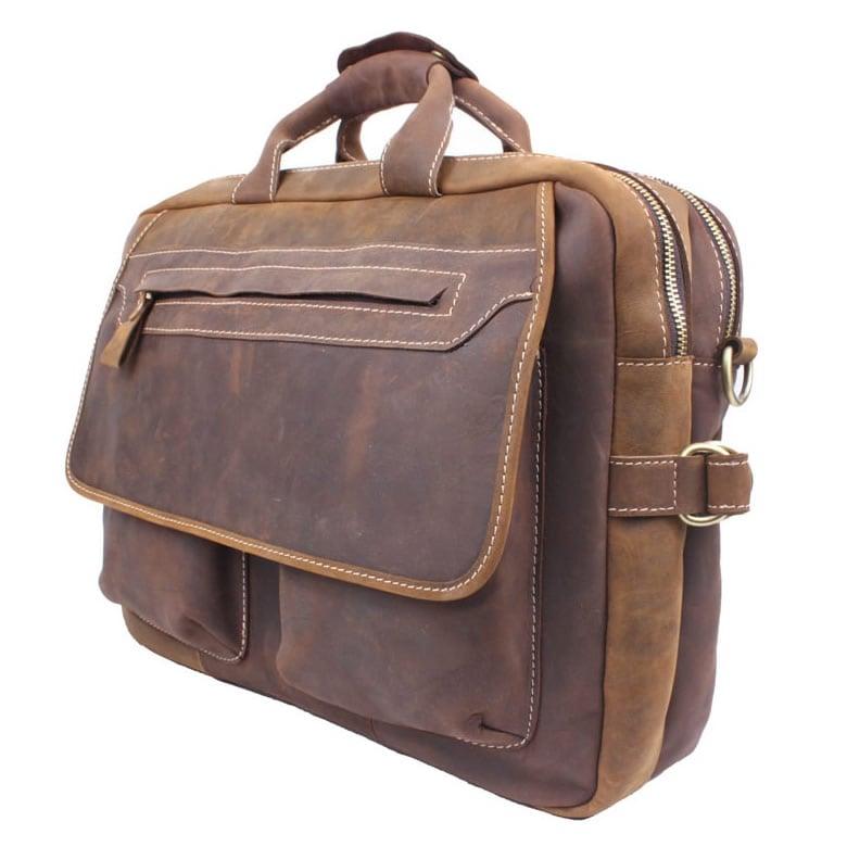 newest c7a11 617c4 Men's Handmade Vintage Leather Briefcase / Messenger / 15