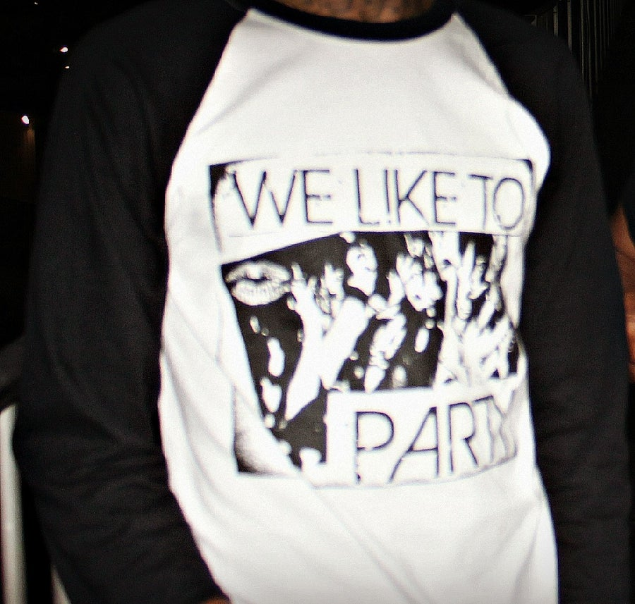 "Image of  MILEY CYRUS ""WE LIKE TO PARTY ...bASeball tees    #CLASSIC"