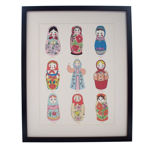 Image of Limited Edition Hand Decorated Russian Doll Print