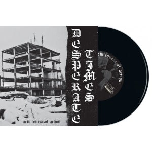 "Image of DESPERATE TIMES - New Course of Action 7"" BLACK"