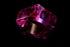 Image of Orchid Swirl Giant Pentagon Bangle