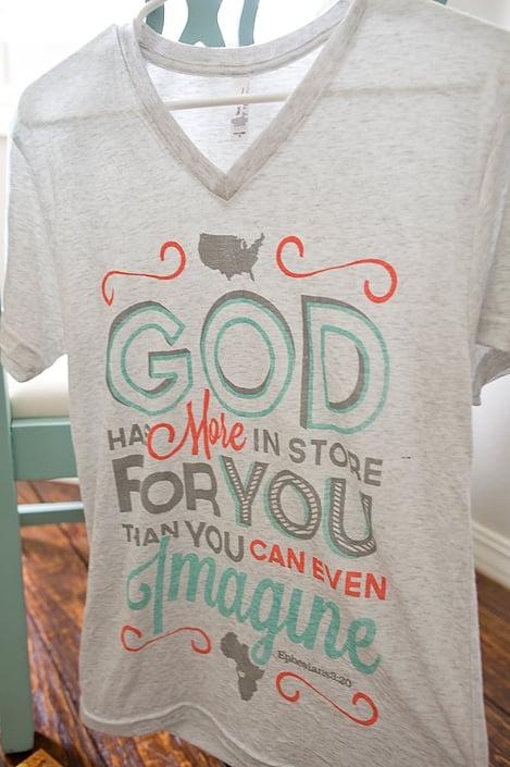 Image of Ephesians 3:20 Adult T-Shirt {V-Neck}