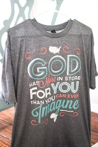 Image of Ephesians 3:20 Adult Charcoal T-Shirt