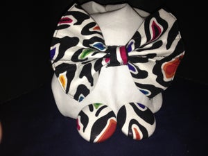 Image of Multi Colored Zebra Bow Tie
