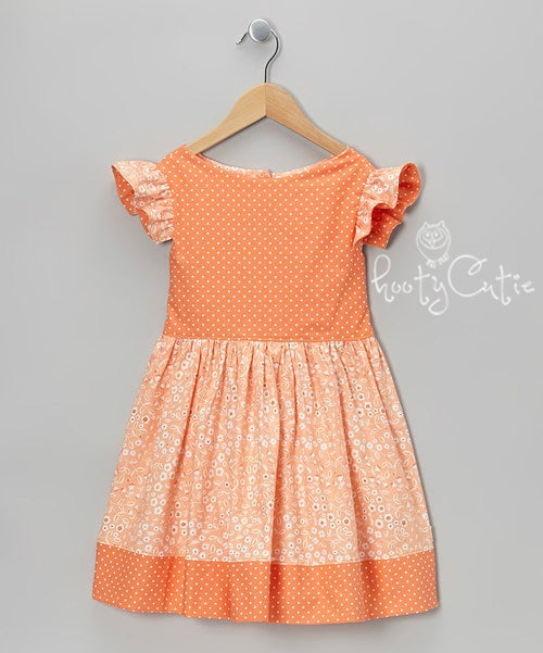 Image of Apricot Flowers Prairie Dress