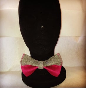 Image of Charcoal & Sangria Bow tie