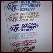 Image of wrong fitment crew - glitter decals