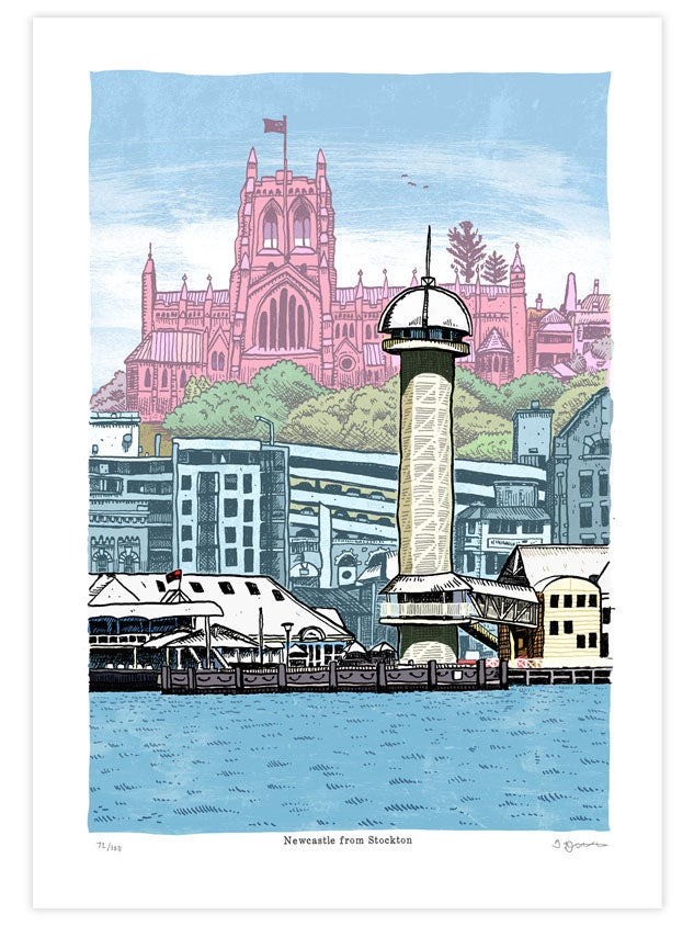 Image of Newcastle From Stockton Limited Edition Digital Print