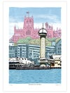 Newcastle From Stockton Limited Edition Digital Print