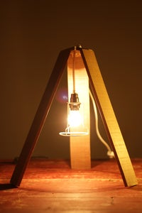 Image of Wooden Tripod Light
