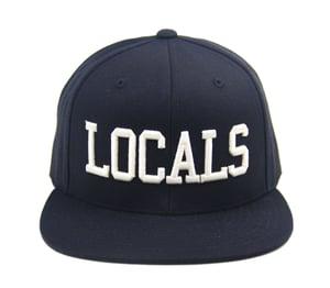 "Image of TFHH Classic Logo ""LOCALS"" Snapback (blk/wht)"
