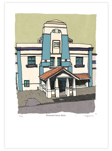Image of Newcastle Baths Limited Edition Digital Print