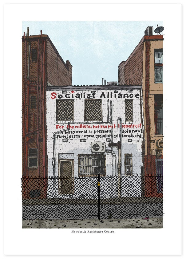 Image of Newcastle Resistance Centre Limited Edition Print