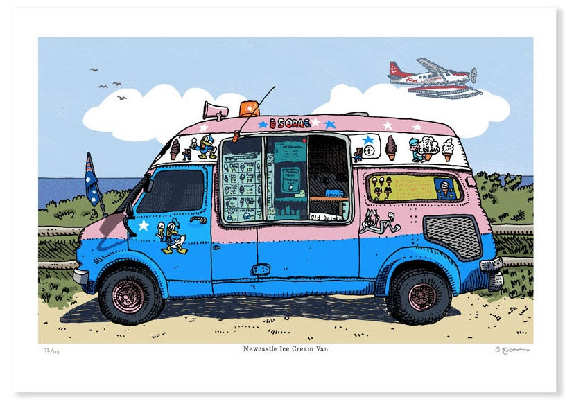 Image of Newcastle ice Cream Van Limited Edition Digital Print