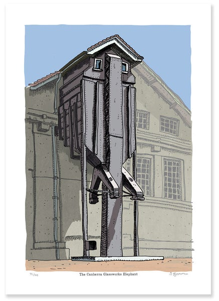 Image of The Glassworks Elephant Limited Edition Digital Print