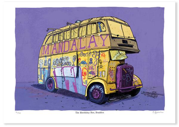 Image of Mandalay Bus Print Limited Edition Digital Print