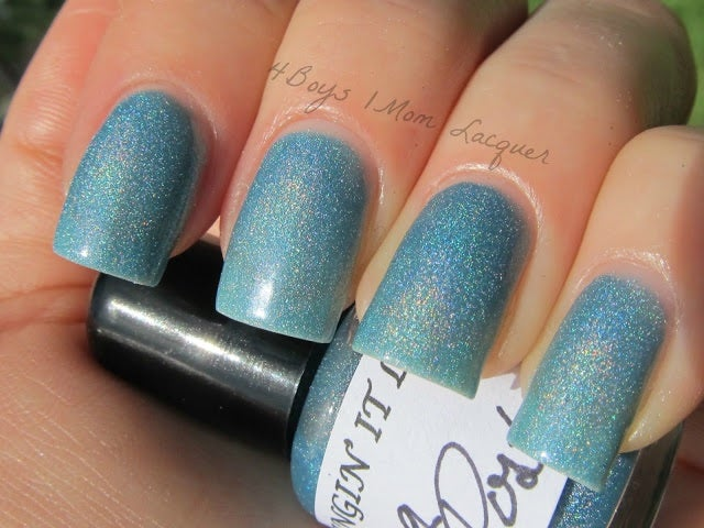Image of Going Postal sky blue holographic  3 free nail polish
