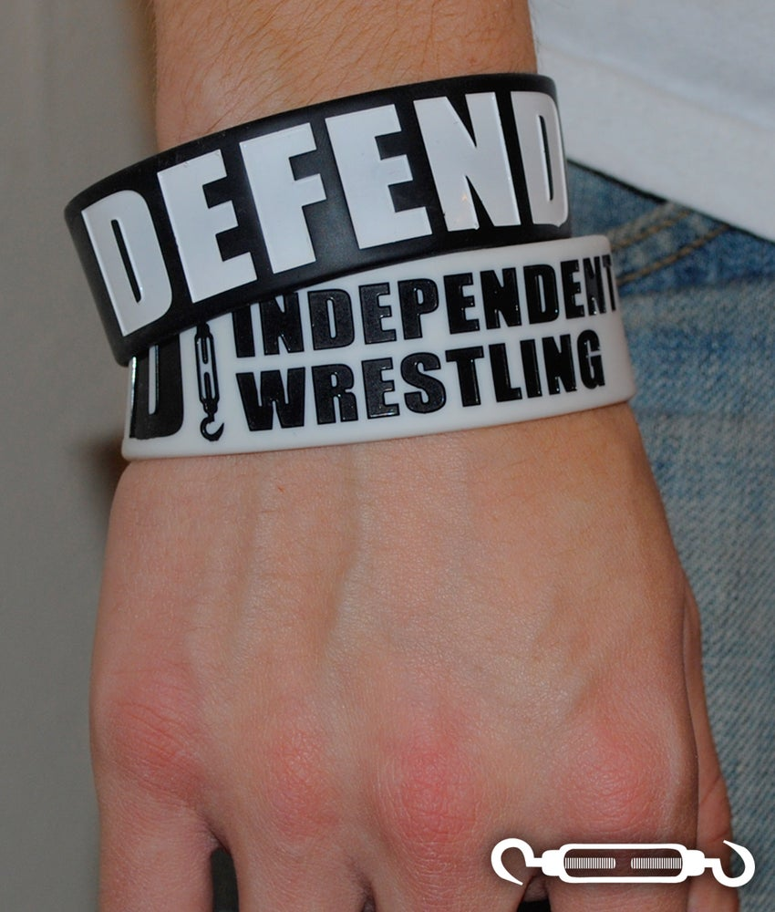 Image of DEFEND Indy Wrestling Wristband