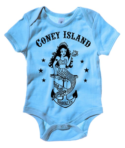 Image of Coney Island Mermaid Baby Blue