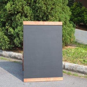 Medium Double Sided Standing Chalkboard with Top and Bottom Border (90cm X 60cm)