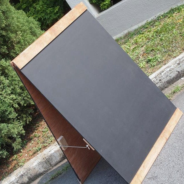 Image of Medium Double Sided Standing Chalkboard with Top and Bottom Border (90cm X 60cm)