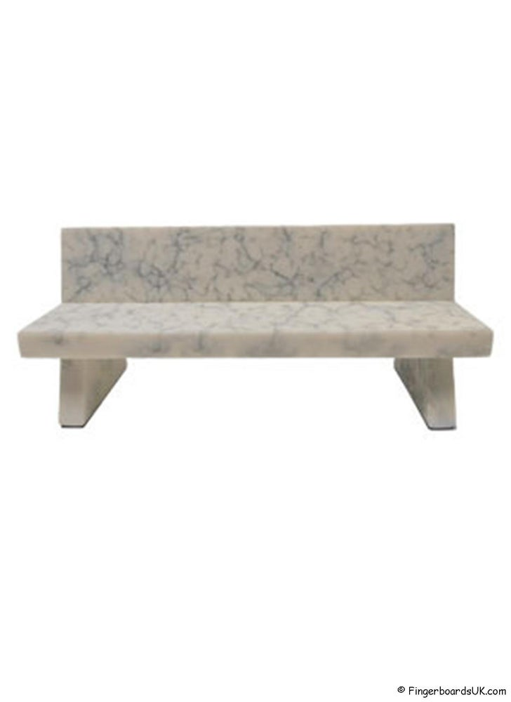 Image of Close Up Marble Bench Grey