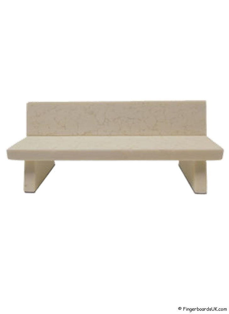 Image of Close Up Marble Bench White