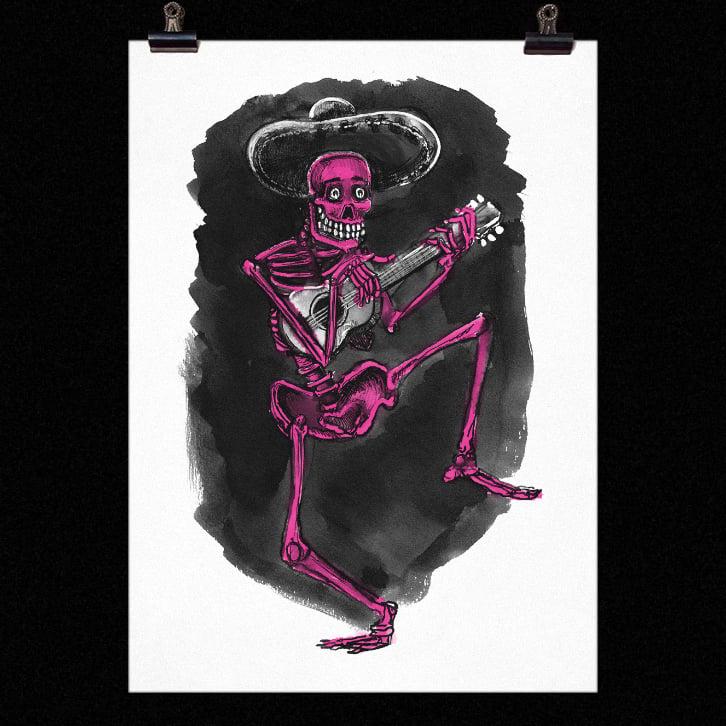 Image of Dancing Skeleton Print