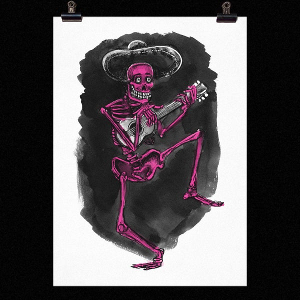 Image of Dancing Skeleton Print