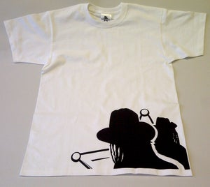 Image of Dub Police Frontline White/Black Mens T-shirt
