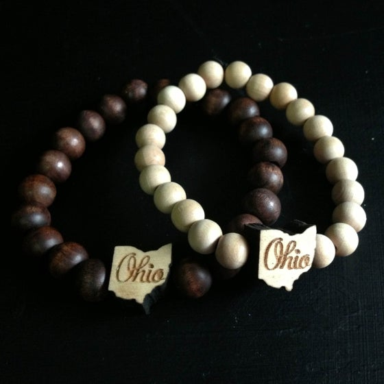 Image of Ohio - State Outline Bracelet