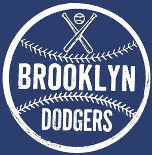Image of Brooklyn Dodger Baseball Tee/Navy