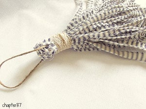 Image of Navy Ticking Tassel - Large