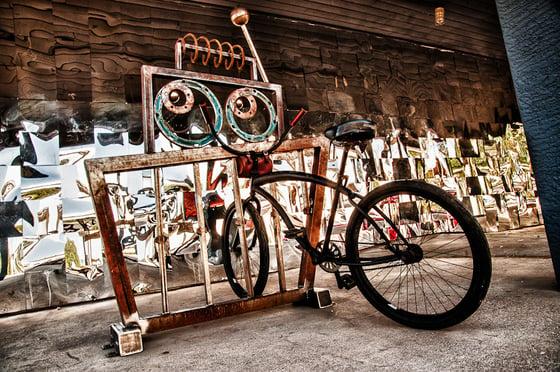 Image of Radio the Robot Bike Rack