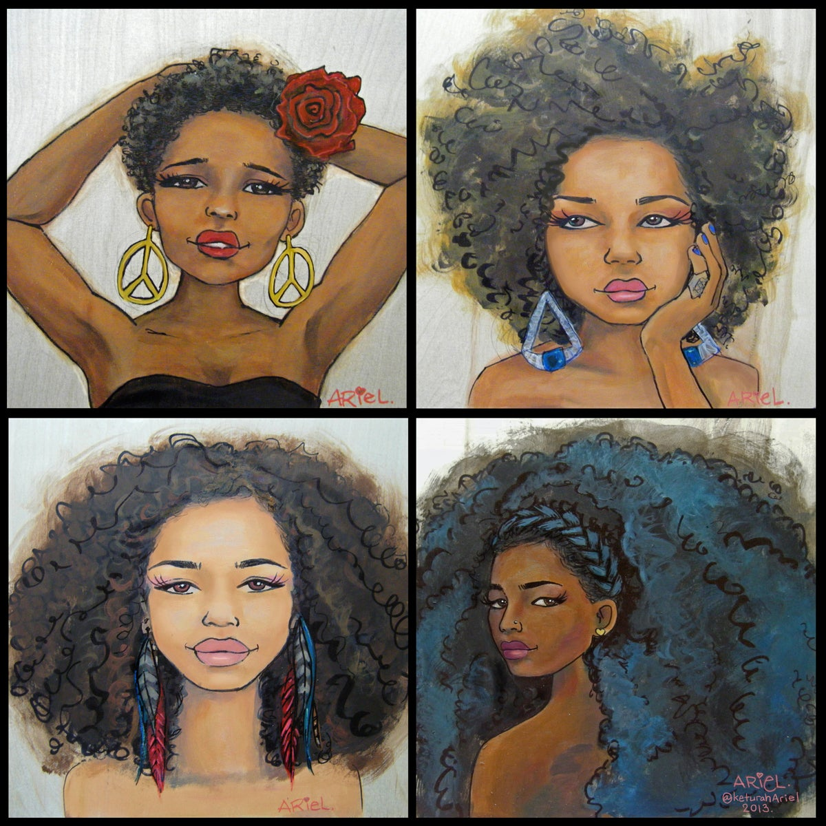 Image of Natural Hair Evolution Print