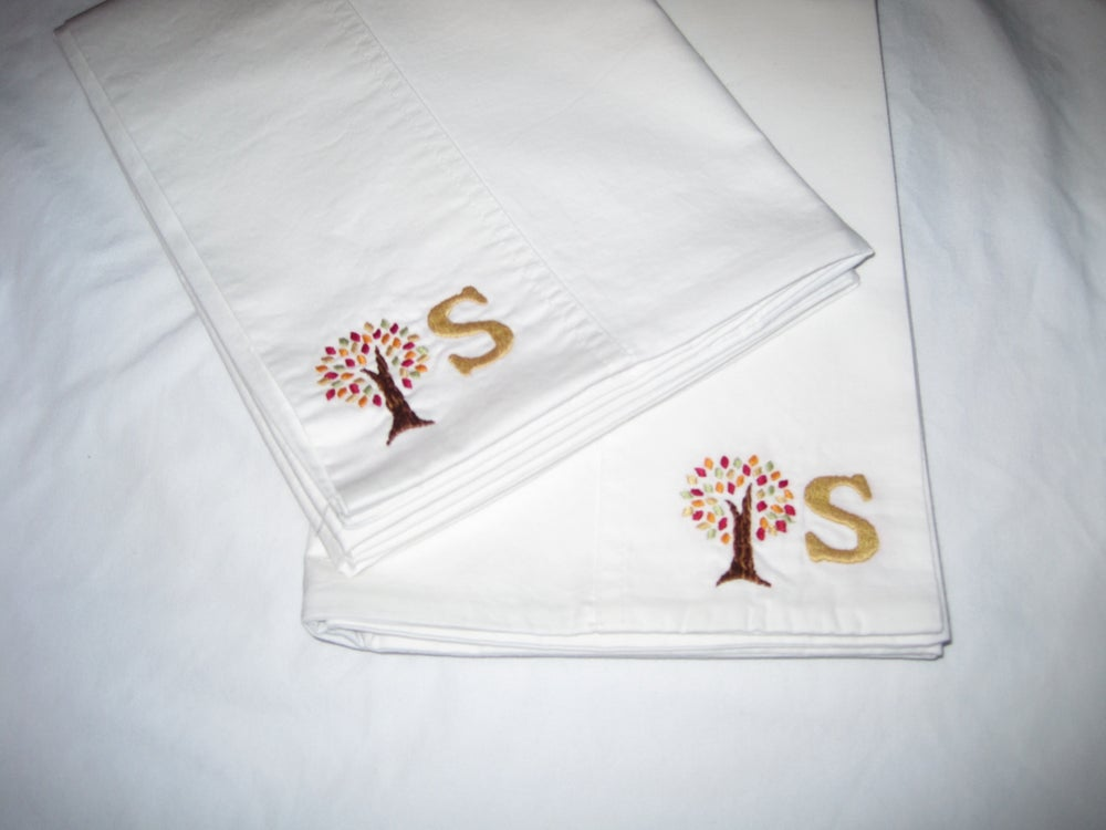 Image of Bespoke Monogram Pillowcase