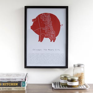 Chicago : The Meaty City by Alyson Thomas of Drywell Art. Available at shop.drywellart.com