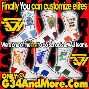 Image of NEW G34 Custom Elite Socks (Side Team logo Coverage)