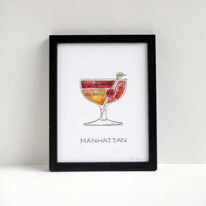 Manhattan Cocktail Diagram Print by Alyson Thomas of Drywell Art. Available at shop.drywellart.com