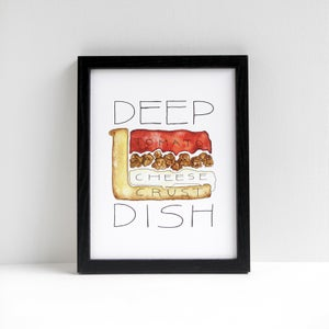 Chicago Deep Dish by Alyson Thomas of Drywell Art. Available at shop.drywellart.com