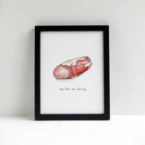 My Loins Are Burning - Archival Pork Print by Alyson Thomas of Drywell Art. Available at shop.drywellart.com