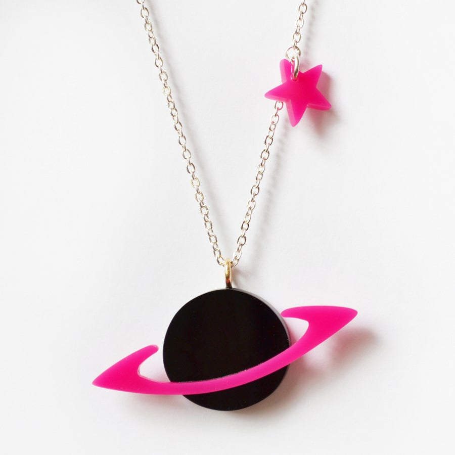Image of Saturn and Star Necklace