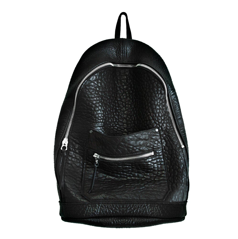 Image of Black Lambskin Collegiate Backpack
