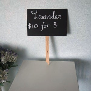 Mini Chalkboard with Stick